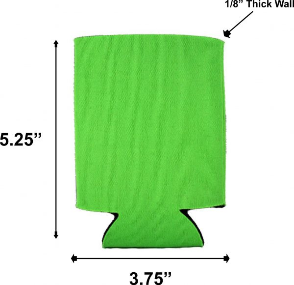 blank foam can coolie dimensions measurements