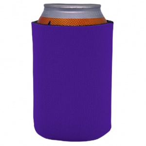 purple blank foam can koozie