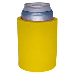 Yellow Blank Thick Foam Old School Can Coolie