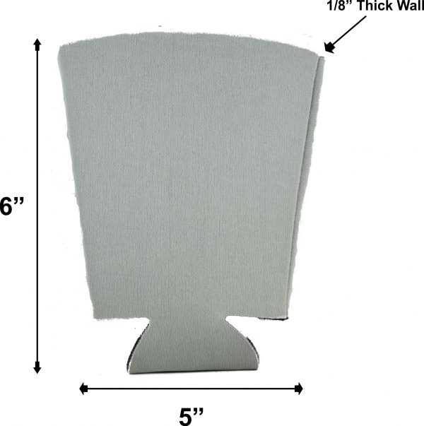 blank foam pint glass coolie dimensions measurements