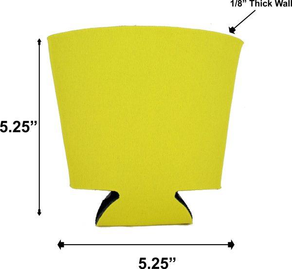 blank foam solo cup coolie dimensions measurements
