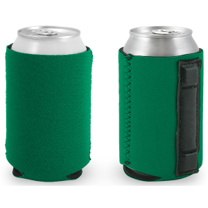 Blank Magnetic Can Koozie in Kelly Green Neoprene Material