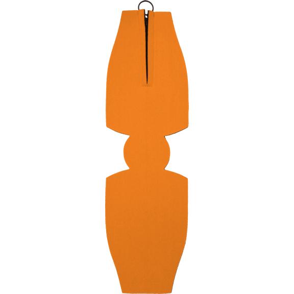blank unsewn foam zipper beer bottle coolie koozie orange