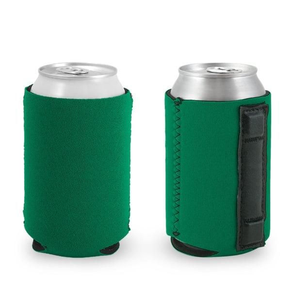 blank wholesale magnetic neoprene can koozie kelly green