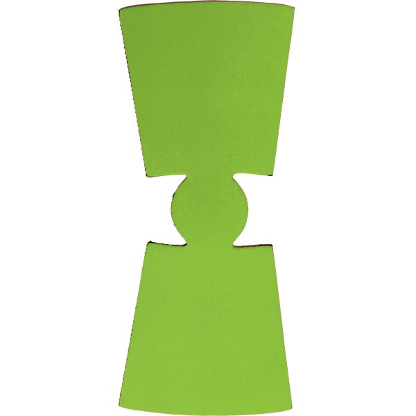 blank wholesale unsewn flat foam pint glass coolie koozie lime green
