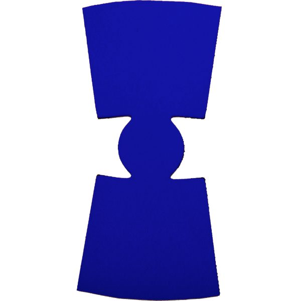 blank wholesale unsewn flat foam pint glass coolie koozie royal blue