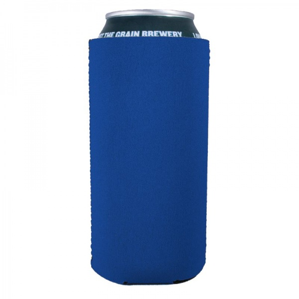 blank 16oz pint neoprene collapsible can coolie koozie royal blue