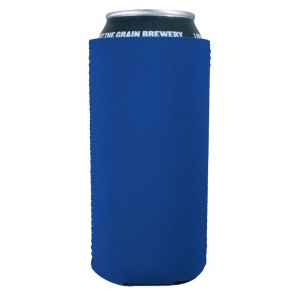 Blank 16oz Tallboy Can koozie in Royal Blue Neoprene Material