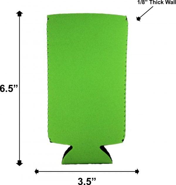 blank slim can coolie dimensions measurements