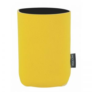 Blank Wholesale Yellow Neoprene Collapsible Koozie