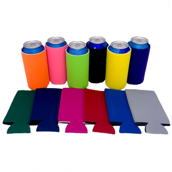 16oz can coolies blank 12 pack various colors
