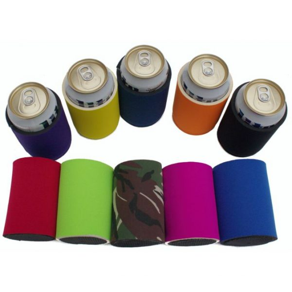 Blank thick neoprene can coolie color variety 10 pack.