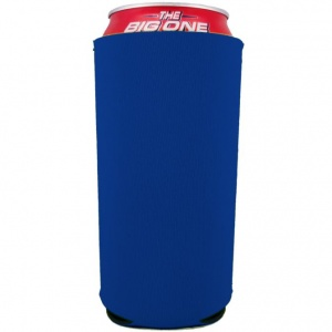 Blank 24 oz can coolie royal blue