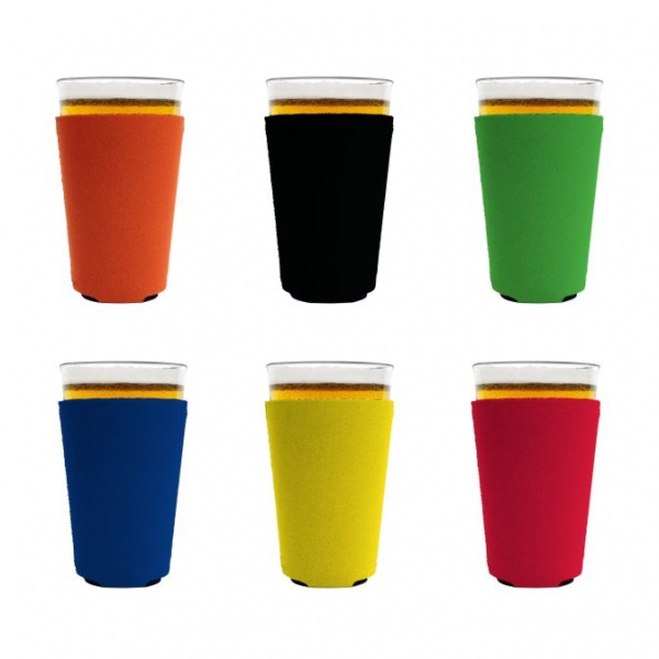 Blank foam pint glass coolie variety 6 pack.