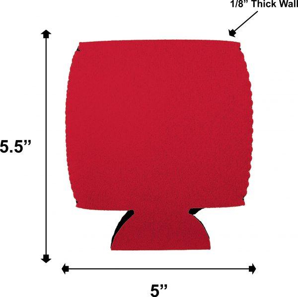 blank mason jar coolie dimensions