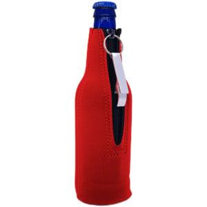 beer bottle koozie with opener