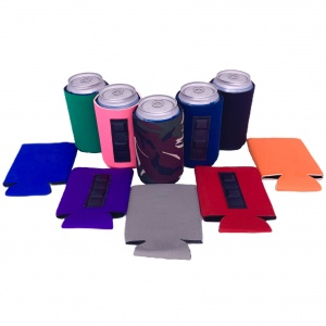 blank magentic can koozies